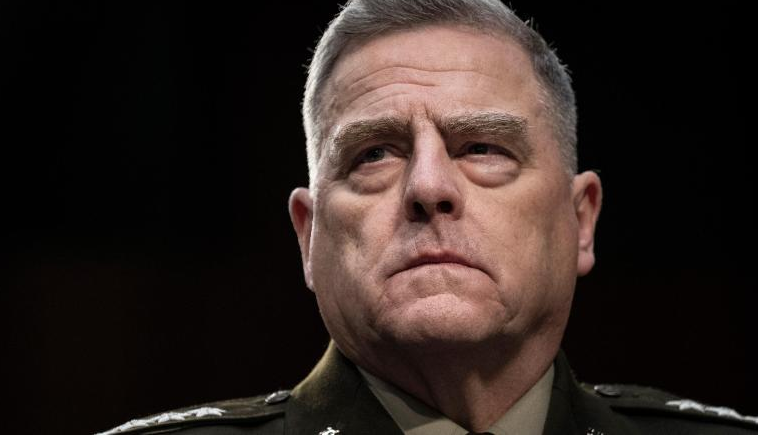 Mark Milley testifies during a Senate Armed Services Committee hearing on March 4, 2020.