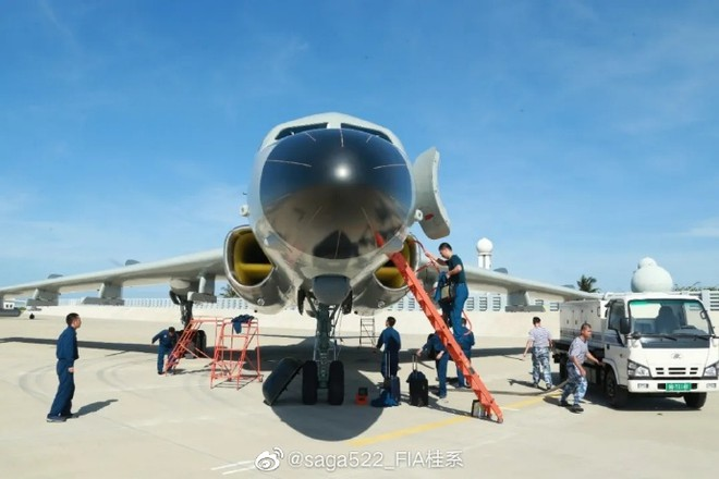 chinese bomber appeared illegally at hoang sa paracel archipelago