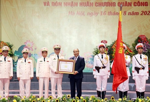 pm awards the first class military exploit order to the ministry of public security