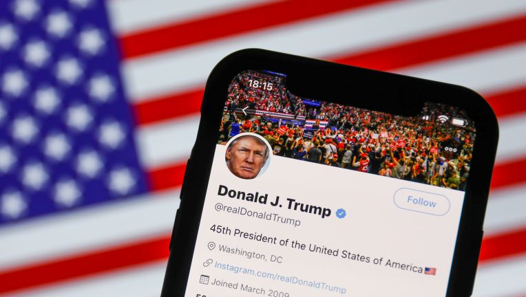 twitter flags president trump tweet on mailboxes not being covid sanitized