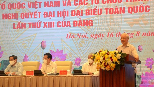 Fatherland Front Must Protect Party's Ideological Foundation: Party Leader