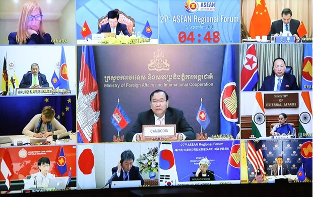 amm 53 cambodia reiterates stance for peaceful solution on bien dong sea issue