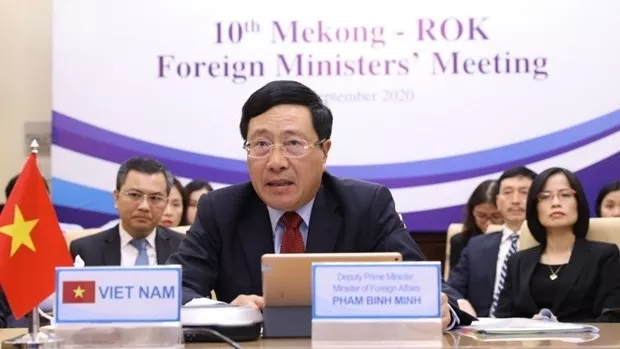 10th mekong rok foreign ministers meeting held online
