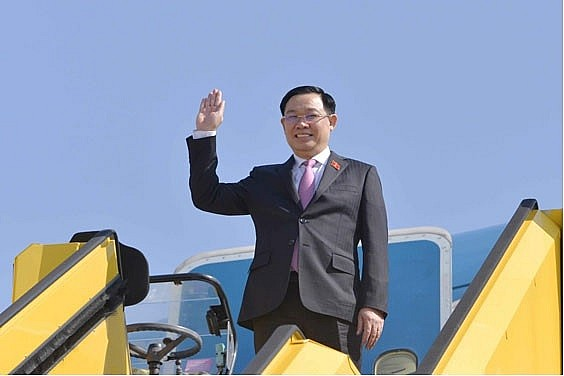 Vietnamese NA Chairman Leading High Ranking Delegation Arrives EU For Working Trip