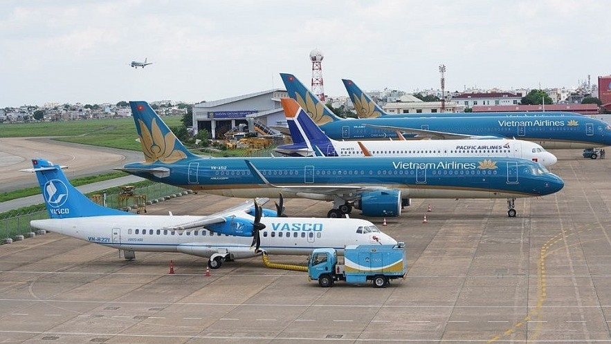 In the first phase, each airline will operate each route with a frequency of less than 50% compared to the first week of April. (Illustrative image/Photo: Vietnam Airlines)