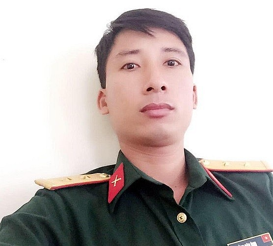 Professional lieutenant Ngo Van Thu - Photo provided by the character