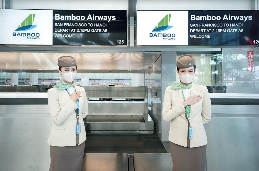 The hospitable cabin crew of Bamboo Airway