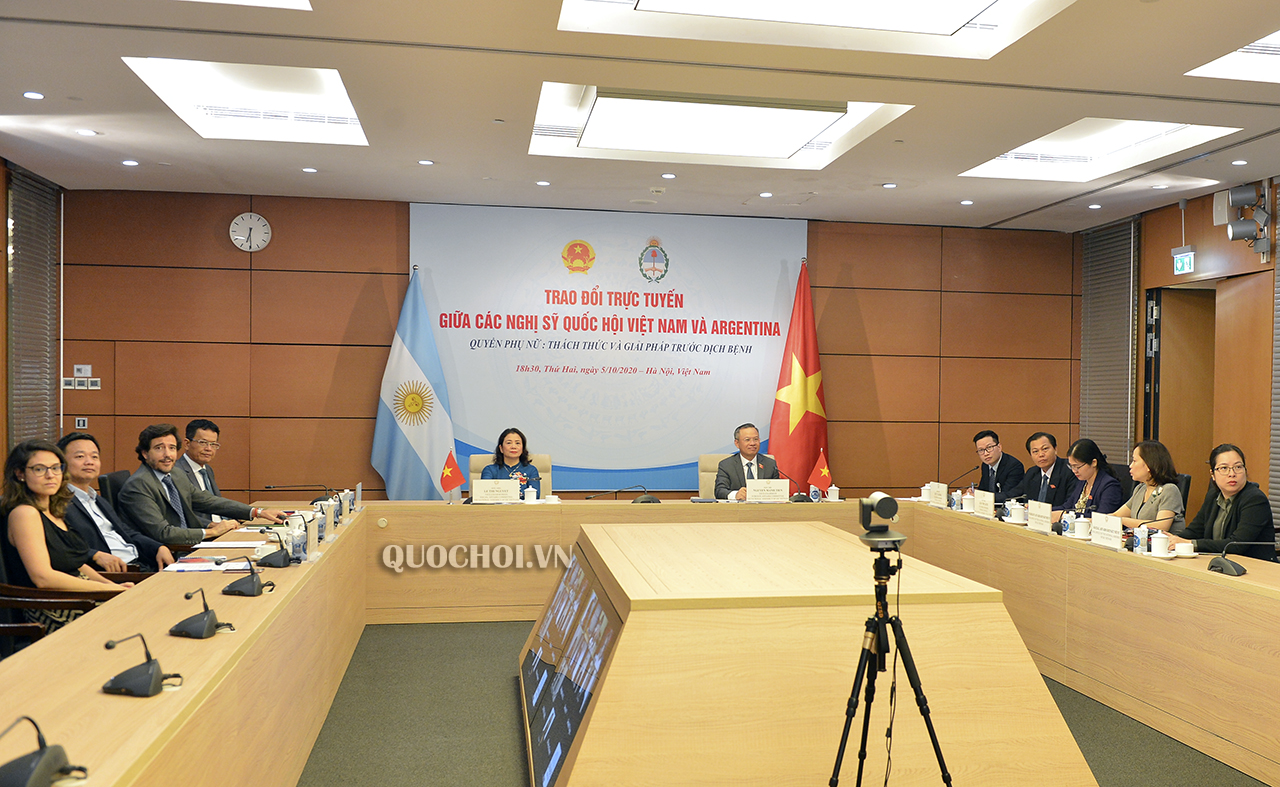 vietnam and argentinas lawmakers discuss to protect womens rights during the covid 19 period