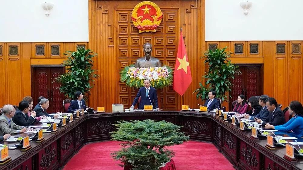 pm receives leaders of vietnam urban planning and development association
