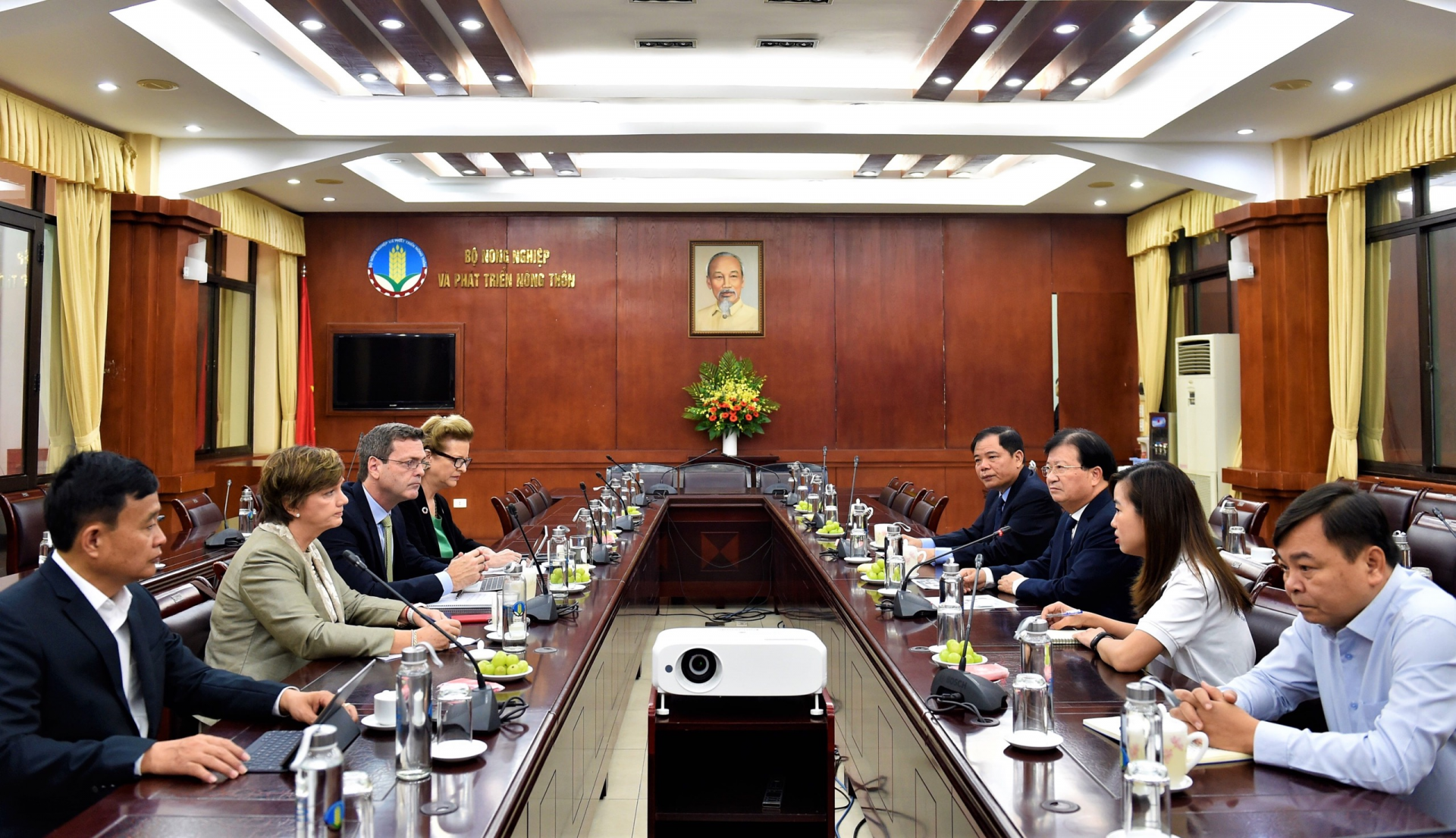 pm chairs video conference on oda disbursement