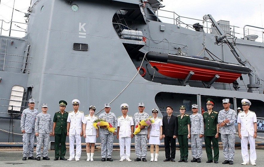 The BRP Ramon Alcaraz of the Philippine Navy and 187 officers and crewmembers visited Viet Nam from September 7-10, 2019. (Photo: VNA)