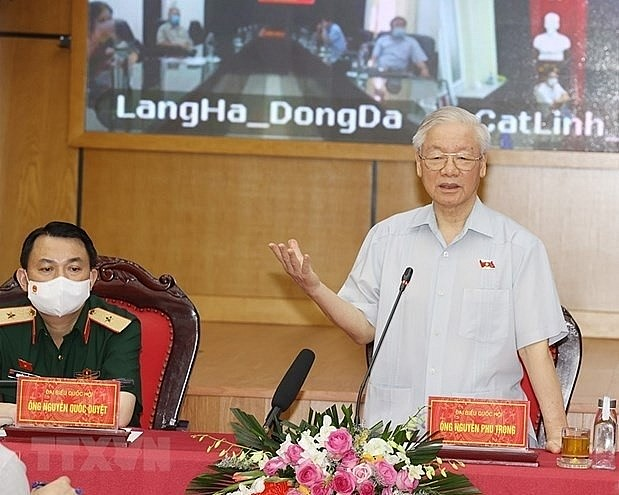 Party General Secretary Nguyen Phu Trong at the event (Photo: VNA)