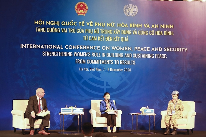women to promote building and sustaining the world peace