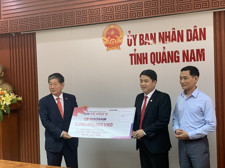 kocham supports quang nam and binh thousands of dollars for disaster recovery
