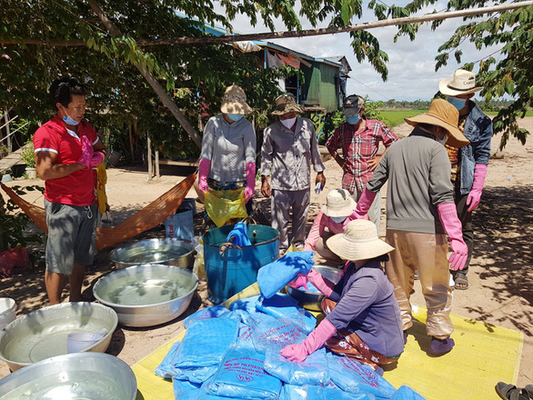 Vietnamese in Cambodia support pandemic fight