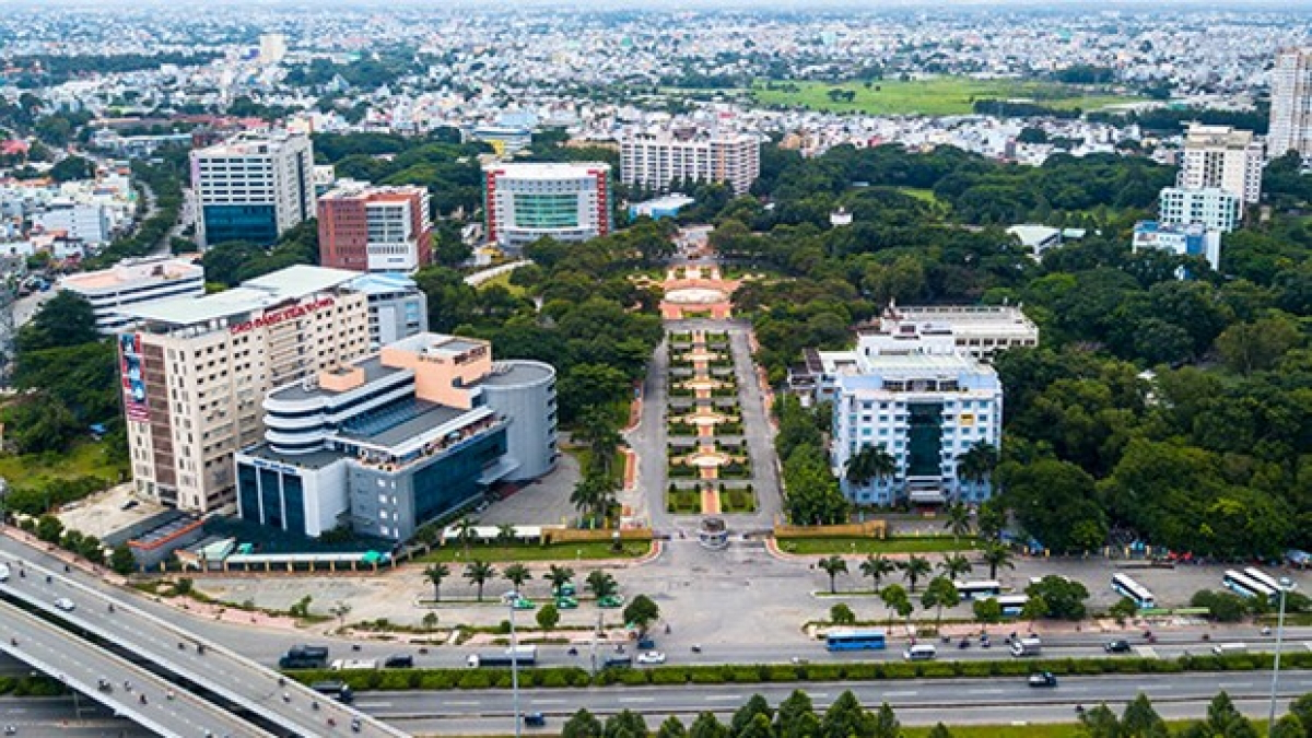 The Quang Trung Software City in HCM City's district 12. Photo: qtsc.com.vn