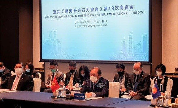 The Vietnamese delegation to the 19th ASEAN-China SOM DOC is led by Deputy Foreign Minister Nguyen Quoc Dung. Photo: VNA