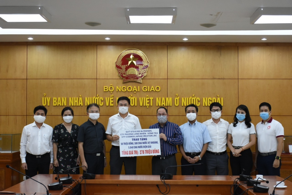 Overseas Vietnamese present donations for Covid-19 fight