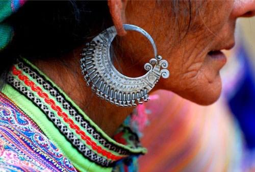 Earings of H'mong ethnic people. Photo: VNA
