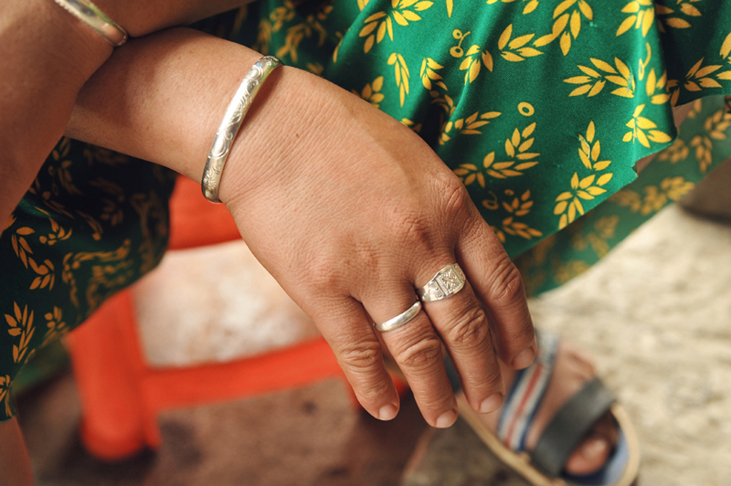 A silver bracelet is an indispensable jewellery item of every H'mong woman, particularly on special occasions such as festivals, New Year holidays, and weddings. Photo: VNN