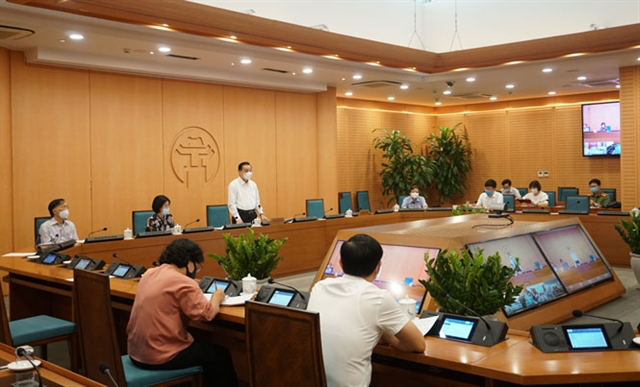 City officials during a meeting to discuss preparation work for the upcoming high school exams, in which over 93,000 students will sit for during this weekend. Photo: VGP