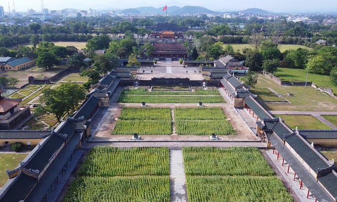 The Hue Imperial Citadel, a popular tourist destination in Hue. Photo: VnExpress