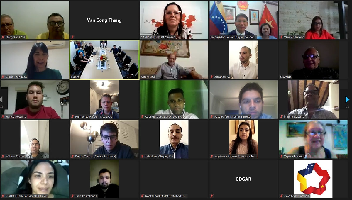 Webinar with the topic: Promoting B2B trade transactions between Vietnam and Venezuela. Photoo: WVR