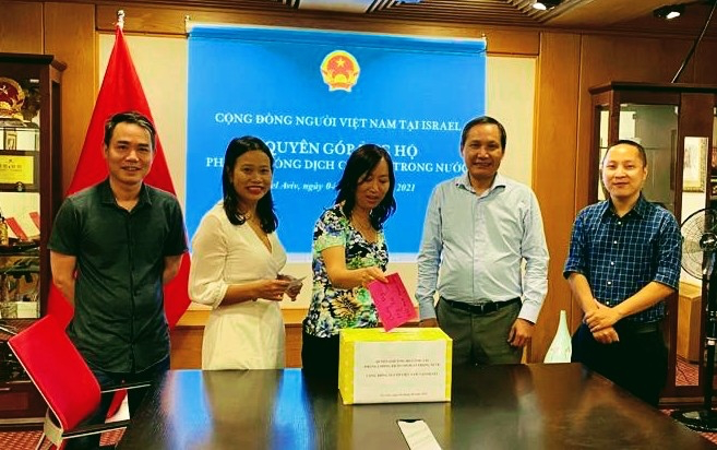 The Vietnamese Embassy in Israel has launched a donation for the prevention of the Covid-19 pandemic in the country. Photo: WVR
