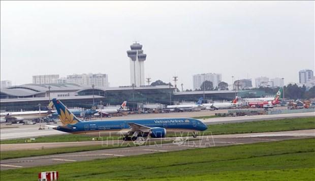 At Tan Son Nhat airport in Ho Chi Minh City. Photo: VNA