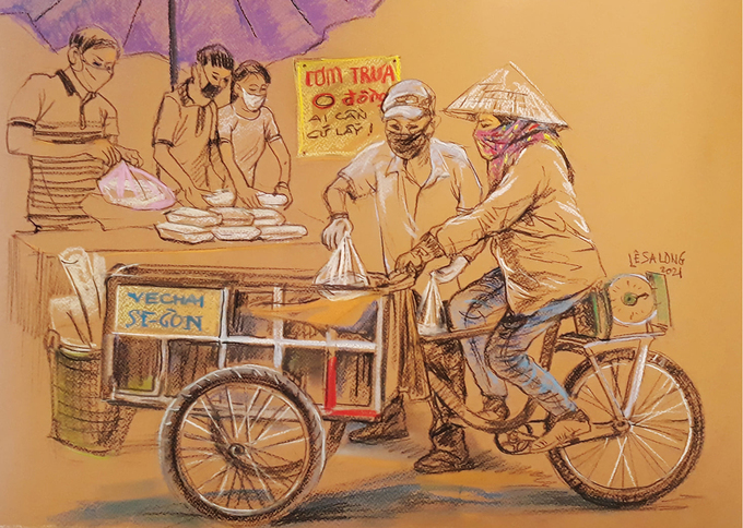In Photos: touching sketches of Saigon during social distancing