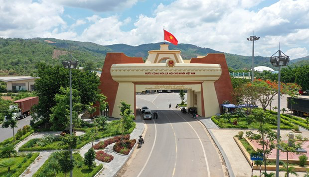 The Lao Bao International Border Gate of Vietnam's Quang Tri province is situated on the shared borderline with Laos (Photo: VNA)