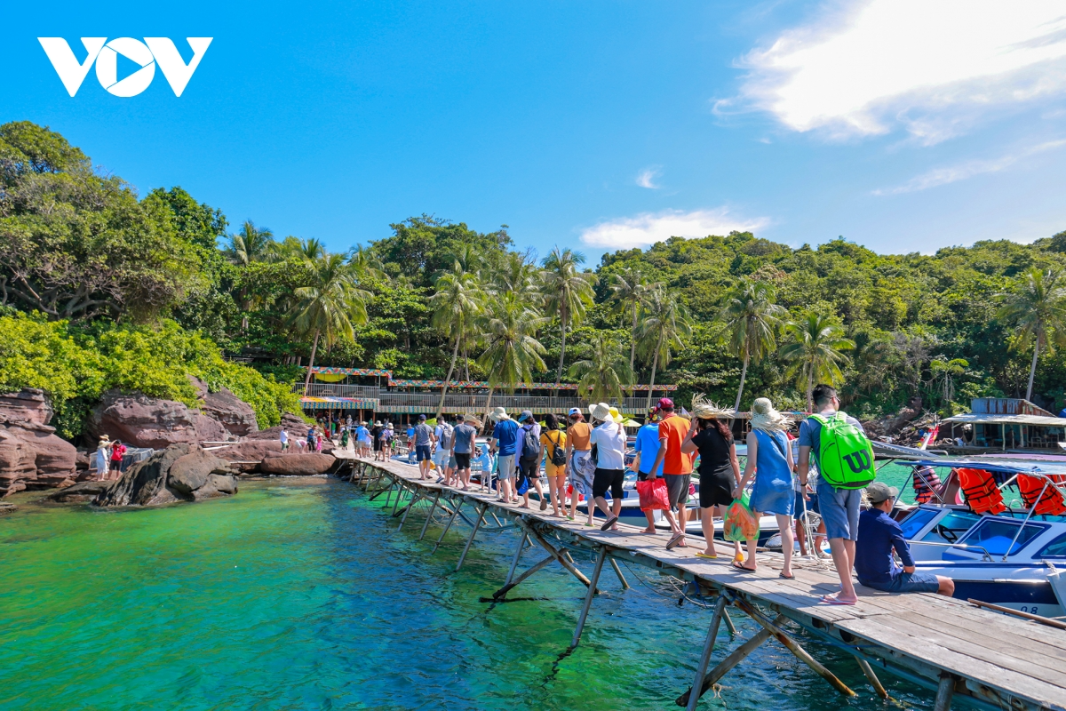 Phu Quoc is one of the most dynamic tourist areas in the country. Photo: VOV