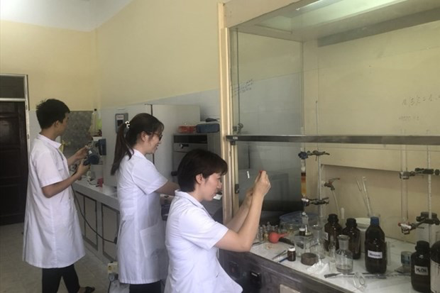 Scientists from the Institute of Chemistry are conducting research in the laboratory (Photo: the Institute of Chemistry)