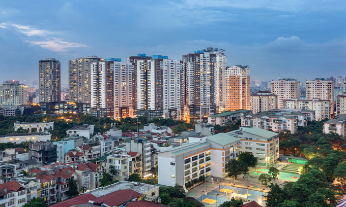 A view of Cau Giay District in Hanoi. Photo by Shutterstock/TuananhVu.