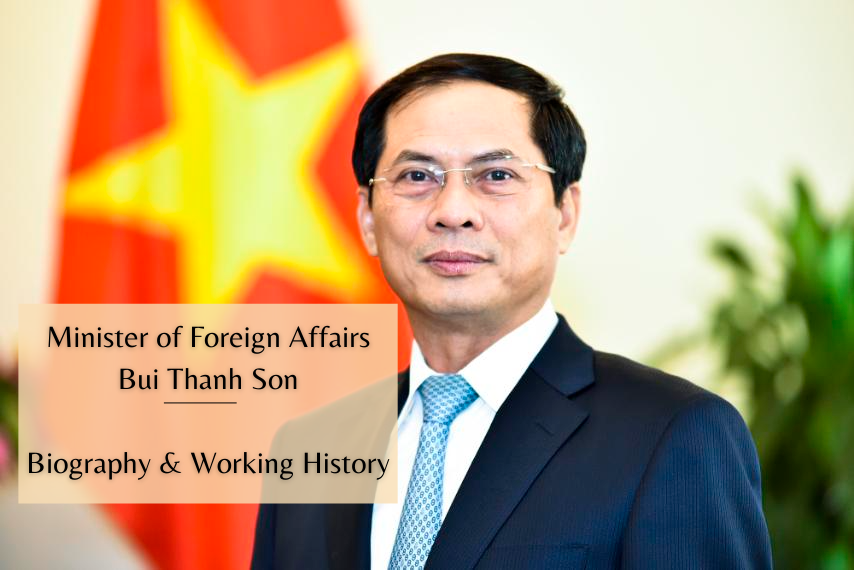 Biography of Vietnam Minister of Foreign Affairs Bui Thanh Son: Positons and Working History