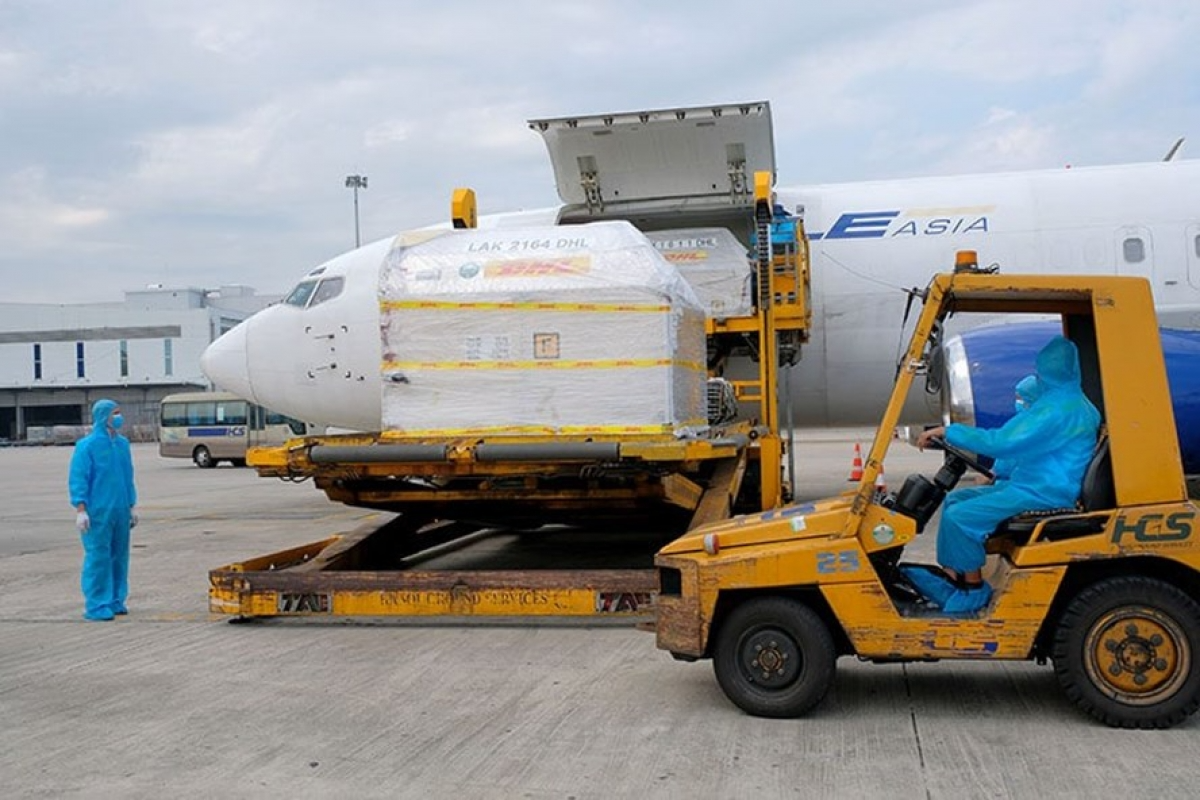 The first batch of the Pfizer COVID-19 vaccine has arrived in Vietnam Photo: VOV