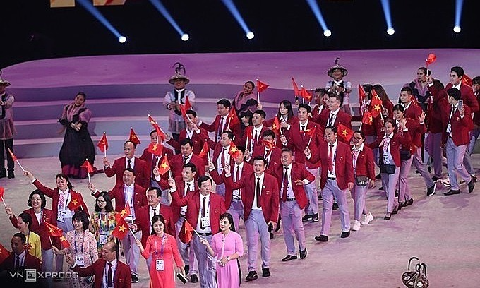 The Vietnam delegation at SEA Games 30 in the Philippines in 2019. Photo: VnExpress