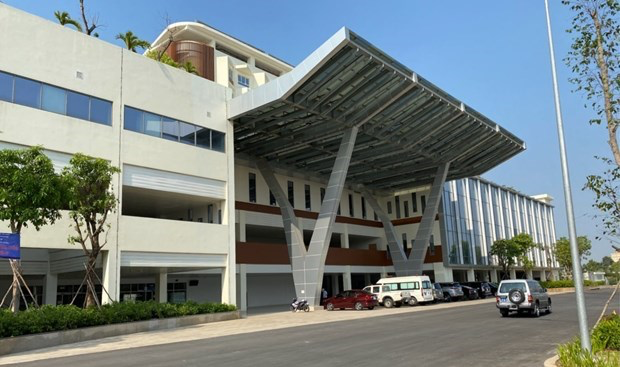 The inpatient treatment area of the oncology hospital in Thu Duc city. Photo: VNN