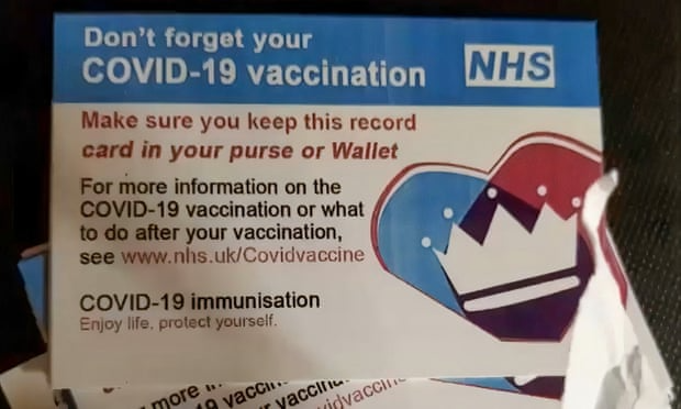 Fake NHS vaccine cards. Photo: Checkpoint Research