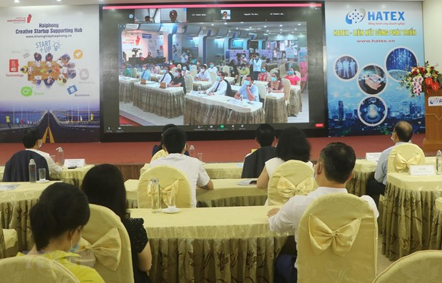 An overview of the programme connecting Vietnamese and Japanese businesses. Photo: VNA