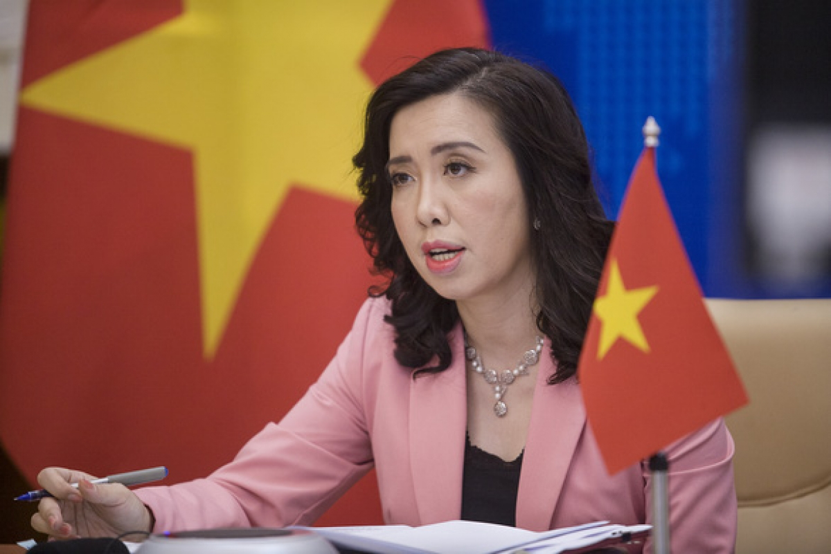 Spokesperson of the Vietnamese Foreign Ministry Le Thi Thu Hang. Photo: VOV