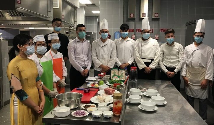 Vietnamese Dishes Made by Algerian Hands