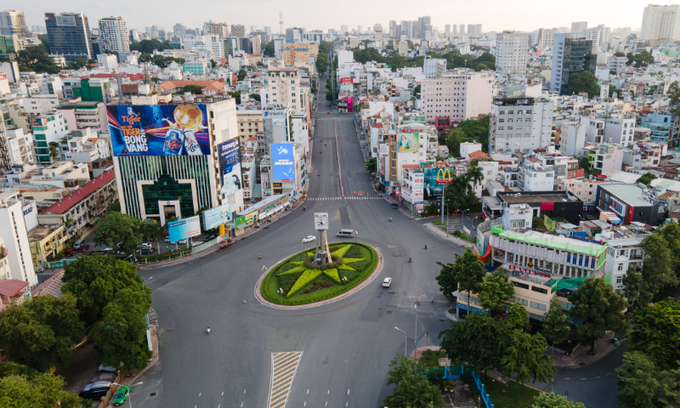 HCMC during a social distancing period on July 26, 2021. Photo: VnExpres