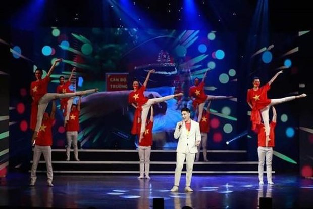 Artists from the National Music Song and Dance Theatre takes part in the programme. Photo: anninhthudo.vn