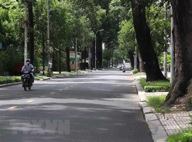 Empty street in Ho Chi Minh city. Photo: VNA