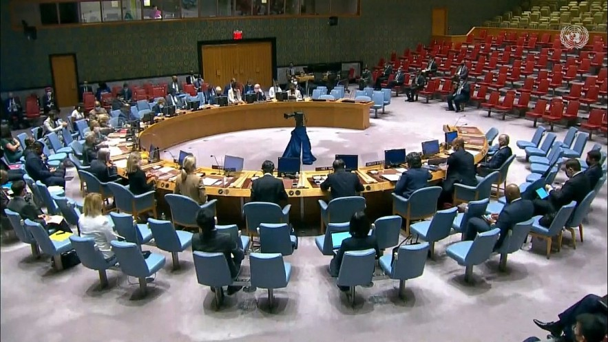 A UNSC briefing chaired by India, the current president of the Security Council. Photo: VOV