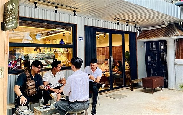 A Da Lat-based La Viet Coffee in Hanoi. La Viet Coffee wants to promote its products with the tourism model across Vietnam when travelling resumes after the pandemic. Photo: La Viet