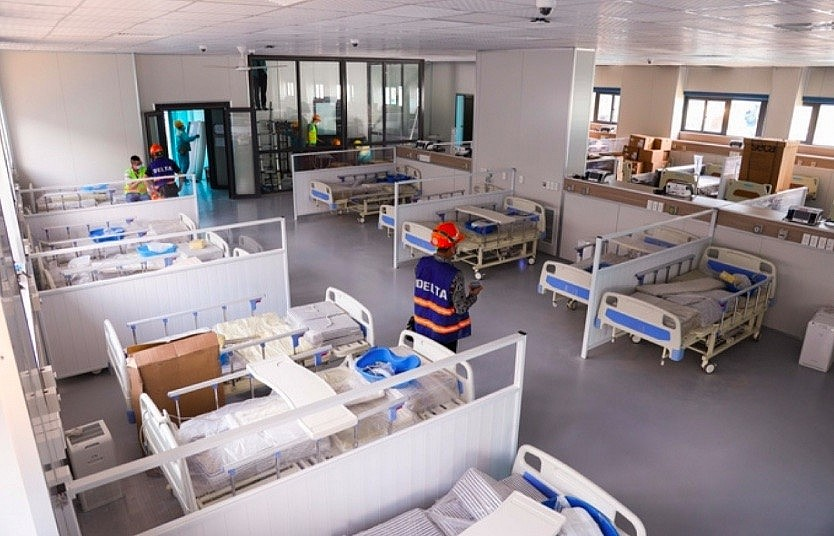 Largest field hospital in Hanoi to be inaugurated on Sept. 1. Photo: VOV