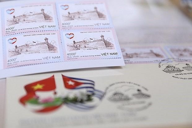 A postal stamp commemorates the Vietnam-Cuba relations. Photo: VNA