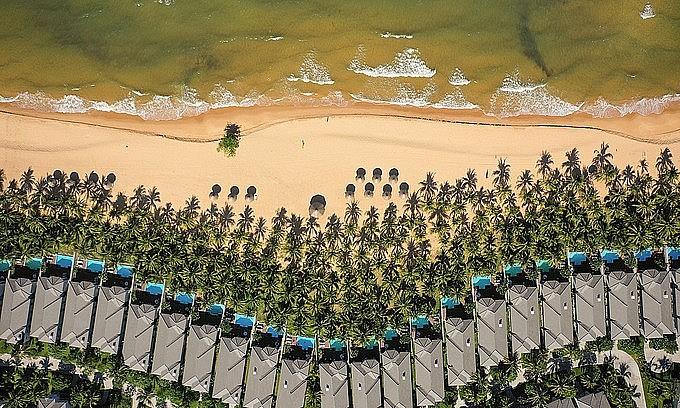 A beach resort on Phu Quoc Island, Kien Giang Province. Photo: VnExpress